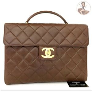 CHANEL Executive Flap Top Handle Business Bag